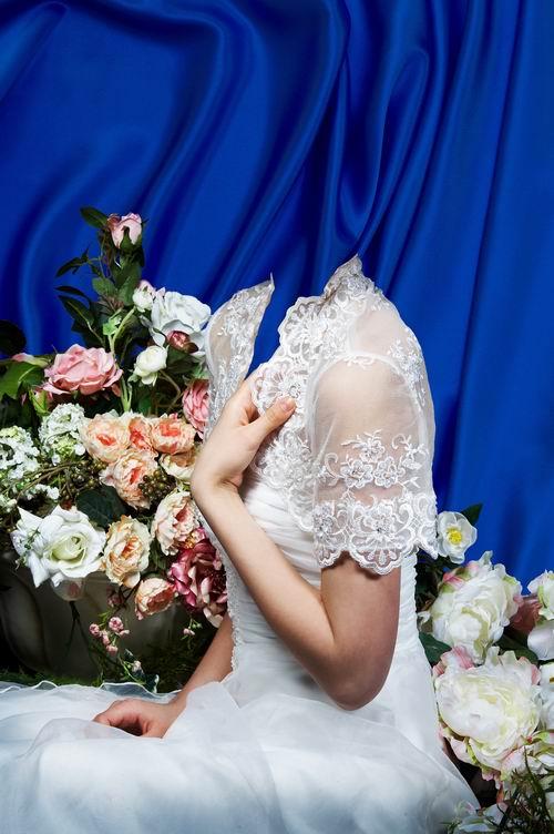 Фото вставить в свадебное платье